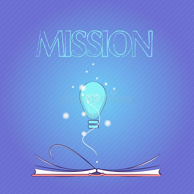 词文字文本使命 公司目标重要任务营业目的和焦点的企业概念 向量例证