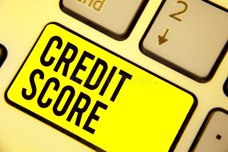 词文字文本信用评分 Represent的企业概念一单独Lenders规定值键盘yello的信誉 皇族释放例证