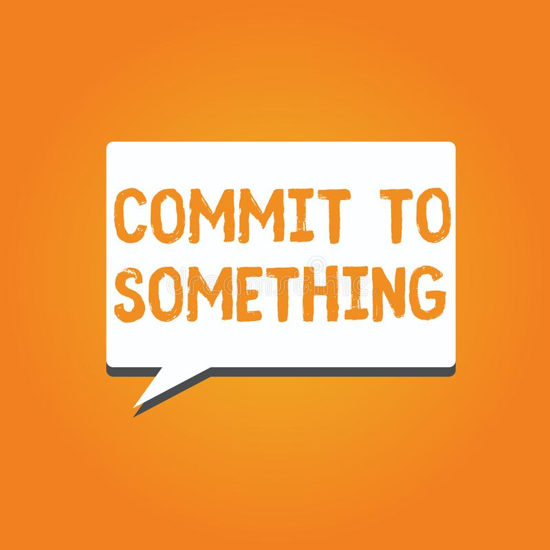 词文字文本做对某事 为有的企业概念目的生活与自豪感荣誉诺言 向量例证