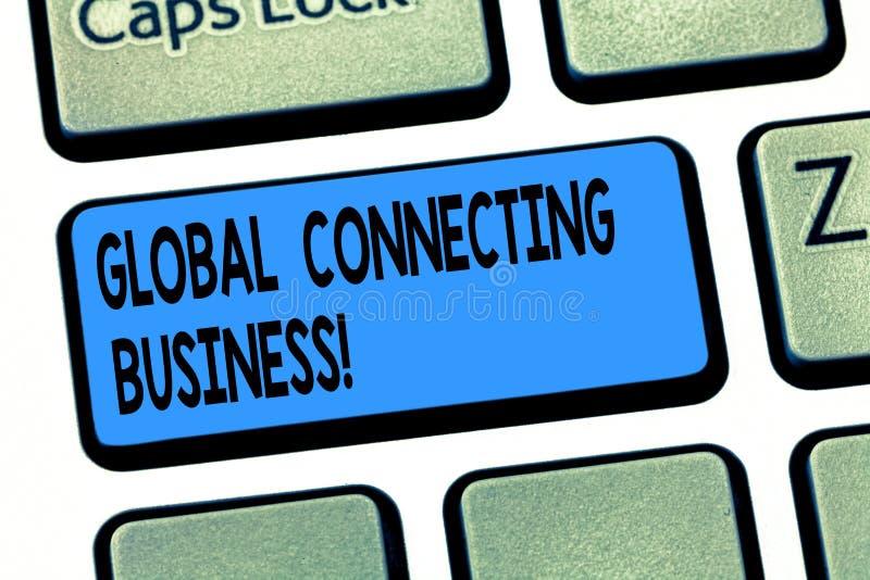 词文字文本全球性连接的事务 货物贸易的企业概念国际和服务 库存图片