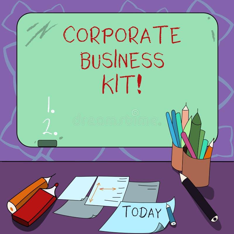 词文字文本公司业务成套工具 事务的定制的结构黏合剂或象征的企业概念 库存例证