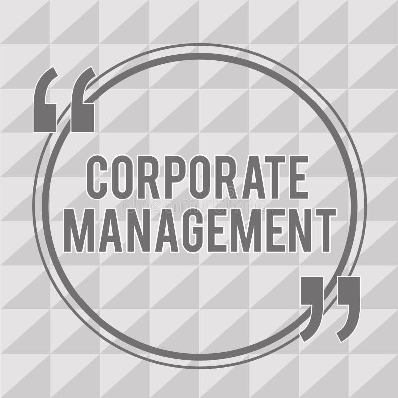 词文字文本公司管理 管理人员和Excutives的所有水平的企业概念 库存例证