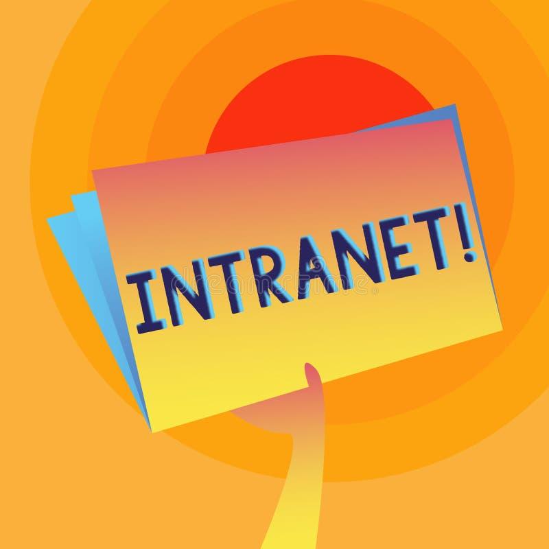 词文字文本内部网 公司被交互相联的局域网的专用网的企业概念递 向量例证