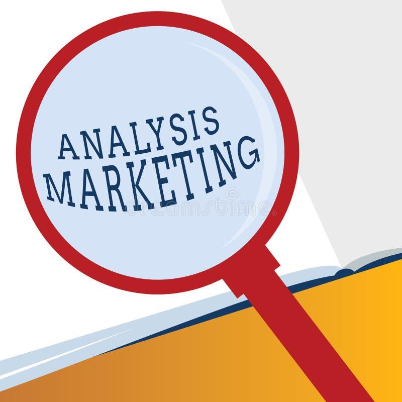 词文字文本分析营销 对市场的定量和定性评估的企业概念 库存例证