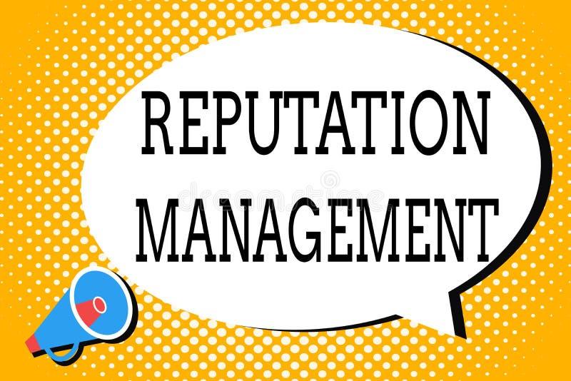 词文字文本名誉管理 影响的企业概念和控制图象品牌恢复 皇族释放例证