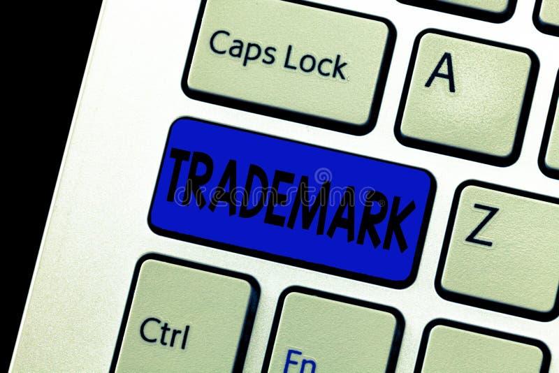 词文字文本商标 法律上登记的版权知识产权保护的企业概念 免版税图库摄影