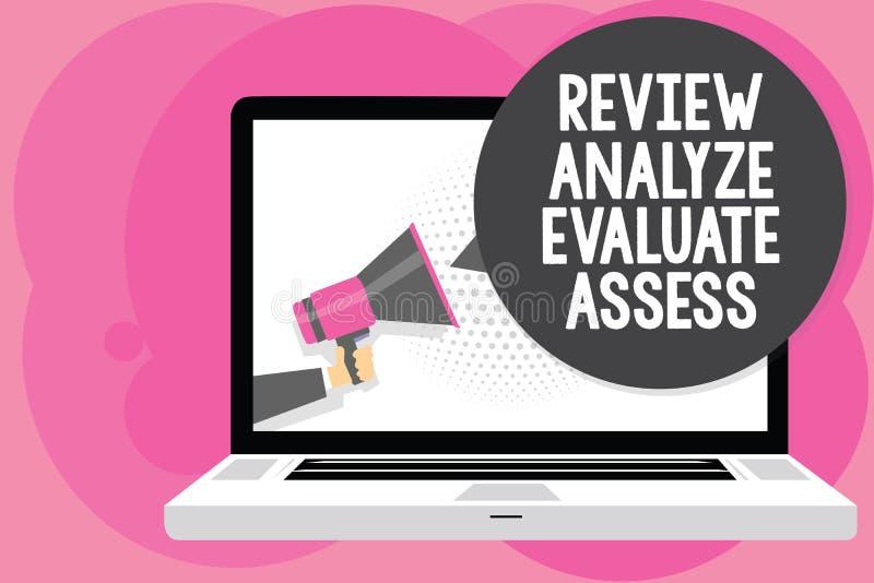 词文字文本回顾分析评估估计 表现反馈兆过程的人的评估的企业概念对负 皇族释放例证