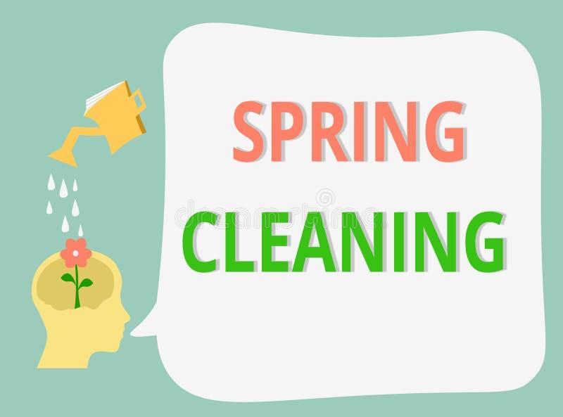 词文字文本大扫除 十分地清洗的房子实践的企业概念春天 向量例证