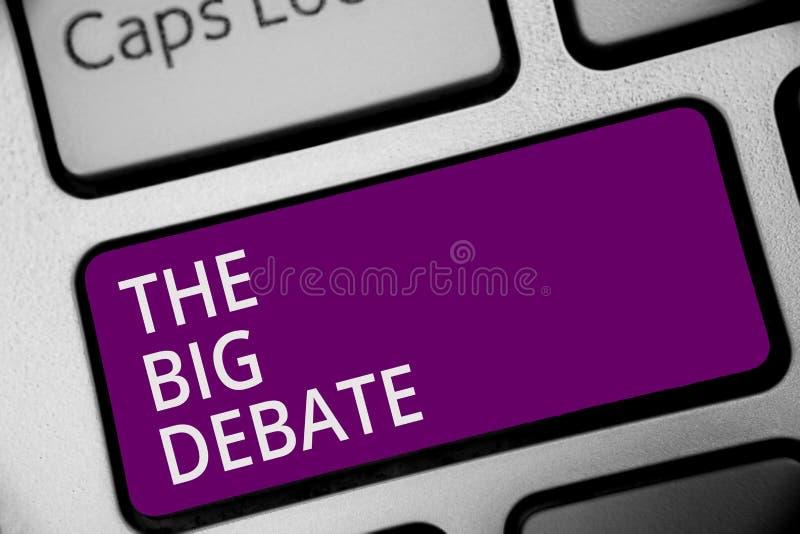 词文字文本大辩论 演讲讲话国会介绍论据区别键盘紫色的企业概念 库存例证