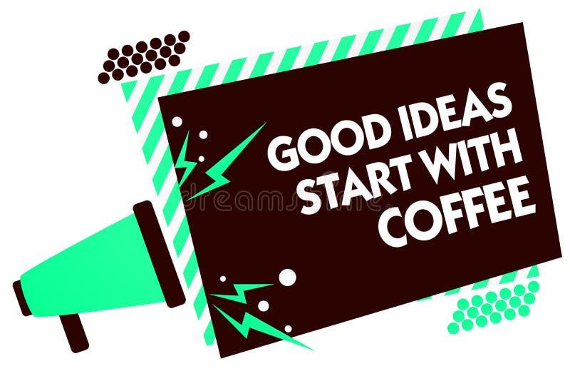 词文字文本好想法开始以咖啡 企业概念为咖啡因恋人与要做更多扩音机loudsp的它的起动天 皇族释放例证
