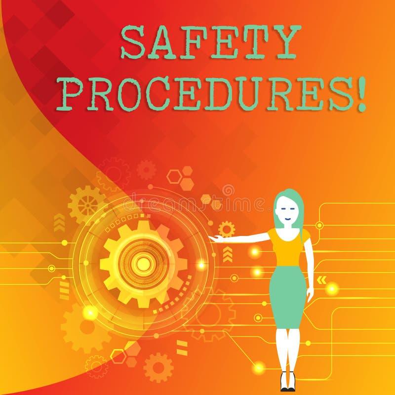 词文字文本安全程序 Follow条例的企业概念工作场所安全妇女的 向量例证