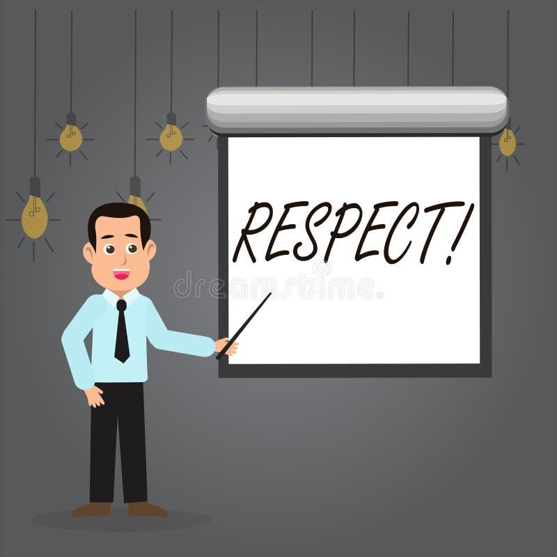 词文字文本尊敬 感觉的企业概念对某人或某事的深刻的倾慕欣赏人  皇族释放例证