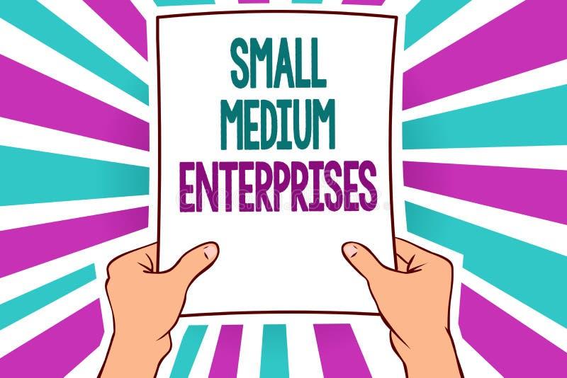 词文字文本小中等企业 公司的企业概念与少于一千名工作者供以人员举行纸impor 皇族释放例证