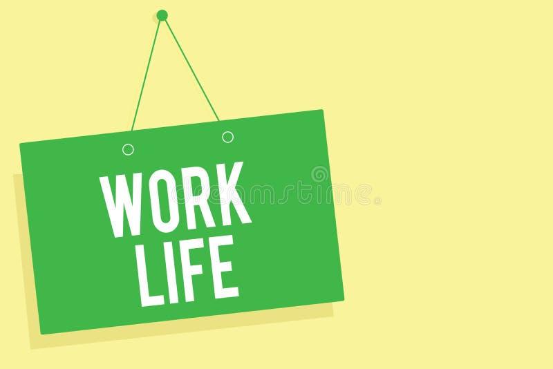 词文字文本工作生活 每天任务的企业概念对ern金钱承受你的自已绿色委员会墙壁m的需要 库存例证