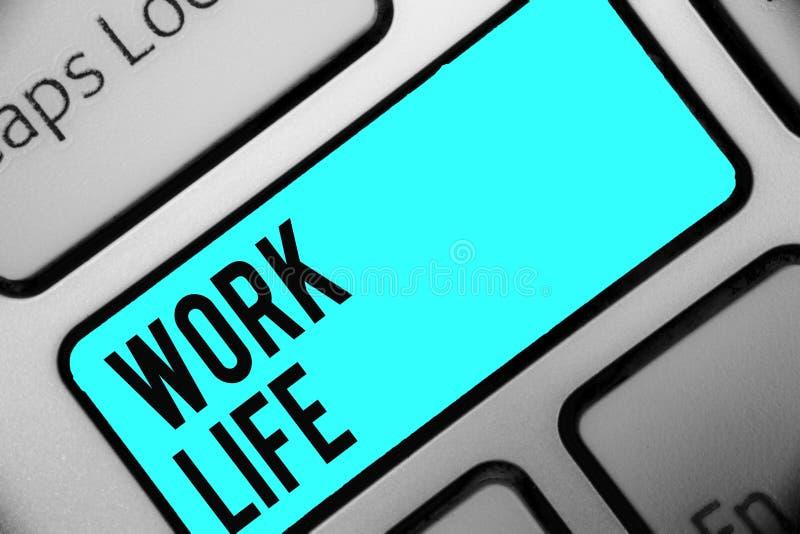 词文字文本工作生活 每天任务的企业概念对ern金钱承受需要的一个\ 's自已键盘蓝色钥匙 库存例证
