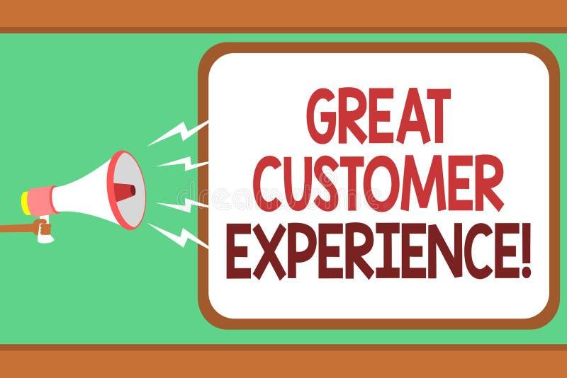 词文字文本巨大顾客经验 反应的企业概念有兆友好的有用的方式的人的客户对负 库存例证