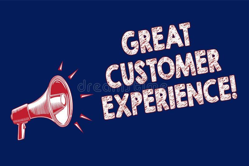 词文字文本巨大顾客经验 反应的企业概念有友好的有用的方式扩音机loudsp的客户 库存例证