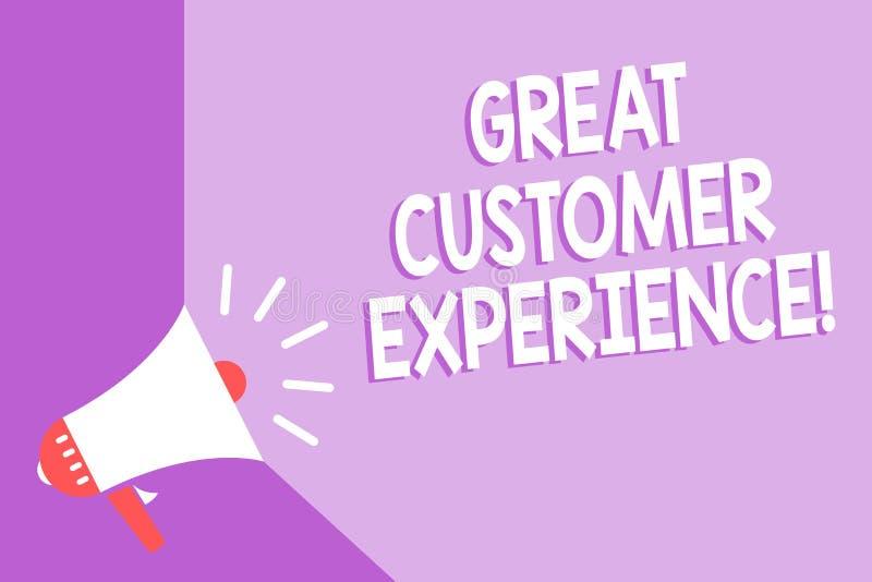 词文字文本巨大顾客经验 反应的企业概念有友好的有用的方式扩音机loudsp的客户 向量例证