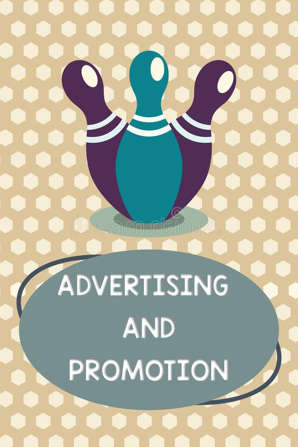 词文字文本广告和促进 受控和有偿的营销活动的企业概念在媒介 库存例证