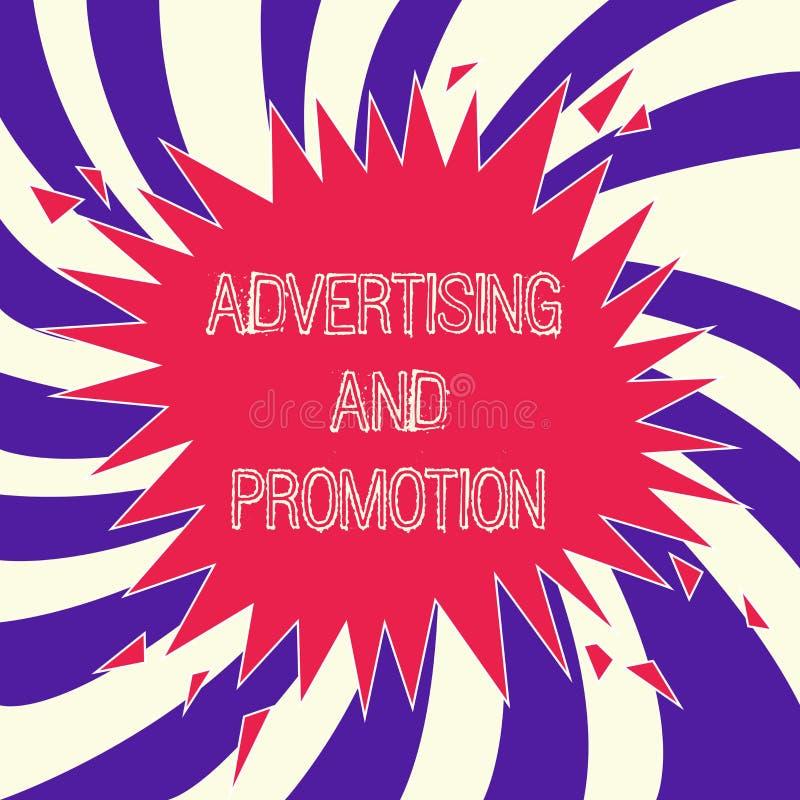 词文字文本广告和促进 受控和有偿的营销活动的企业概念在媒介 皇族释放例证