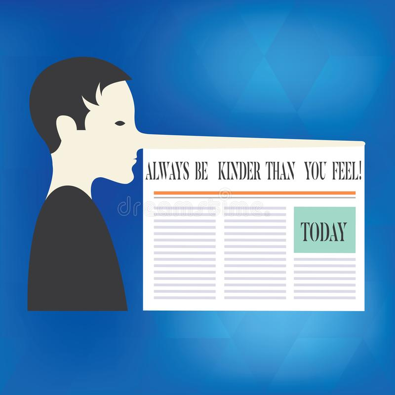 词文字文本总是比您感觉亲切 尝试的企业概念能停留有a的更加耐心的快乐的正面人非常 向量例证