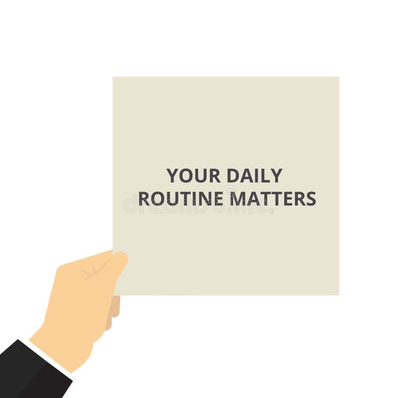 词文字文本您的每日定期事态 库存例证