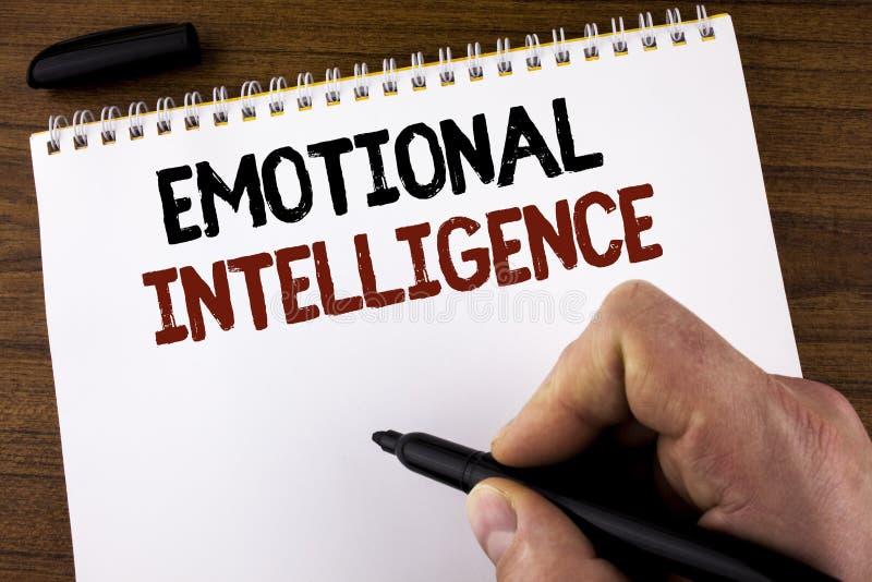 词文字文本情感智力 能力的企业概念能控制和知道Ma写的个人情感 免版税图库摄影