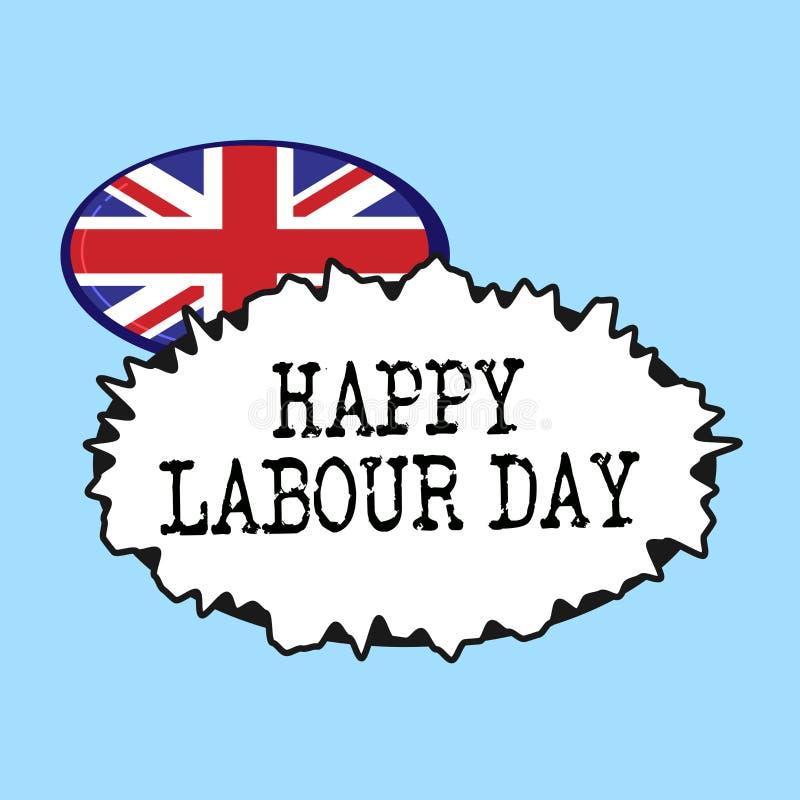 词文字文本愉快的劳动节 企业概念为了例假能庆祝工作者的成就 向量例证