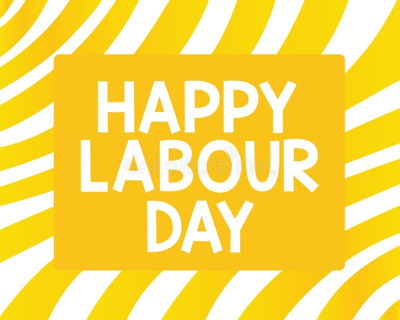 词文字文本愉快的劳动节 企业概念为了例假能庆祝工作者的成就 皇族释放例证