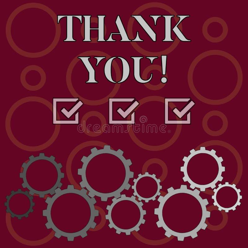 词文字文本感谢您 敬语的企业概念什么时候使用了承认礼物服务恭维 向量例证