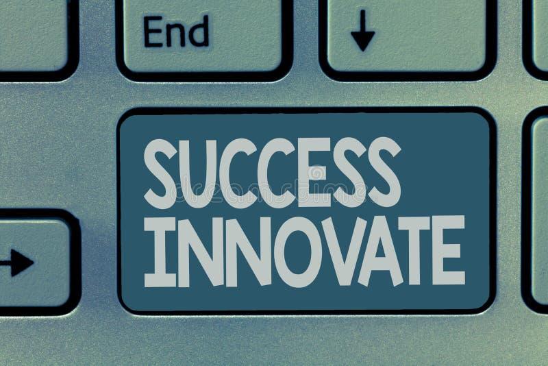 词文字文本成功创新 企业概念为使组织能适应对市场力量 图库摄影