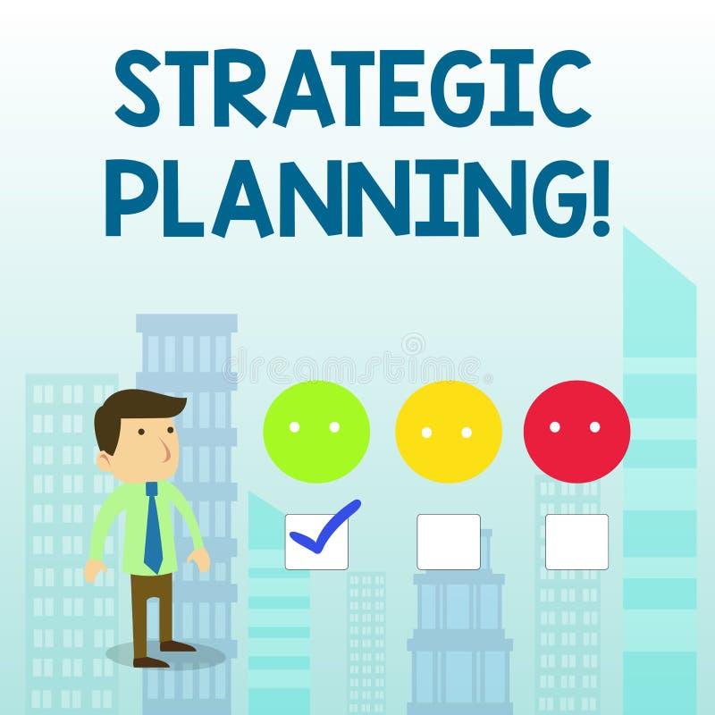 词文字文本战略计划 组织管理活动操作优先权白色的企业概念 库存例证