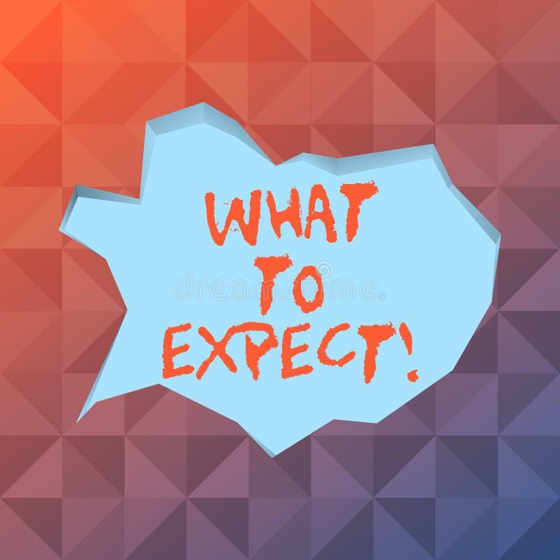 词文字文本所期待的是 要求的企业概念认为某事可能偶然发生空白 库存例证