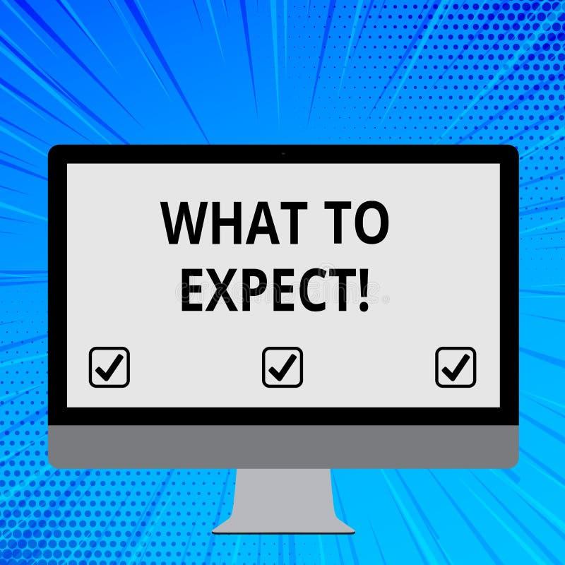 词文字文本所期待的是 要求的企业概念认为某事可能偶然发生空白 向量例证