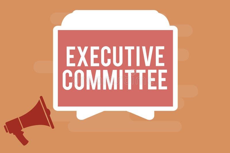 词文字文本执行委员会 小组的企业概念主任任命有当局在决定 向量例证
