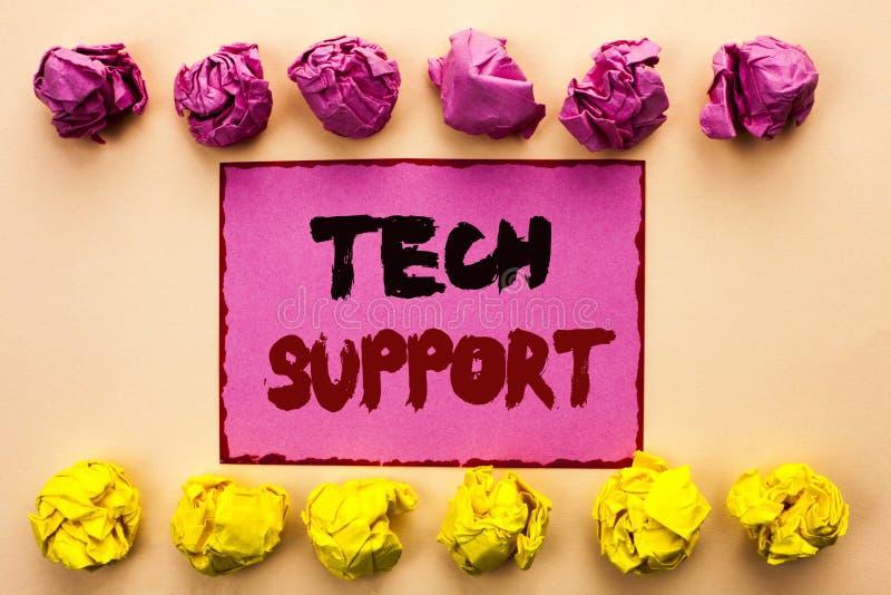 词文字文本技术支持 技术员给的帮助的企业概念在网上或电话中心在Pi写的顾客服务 免版税库存照片
