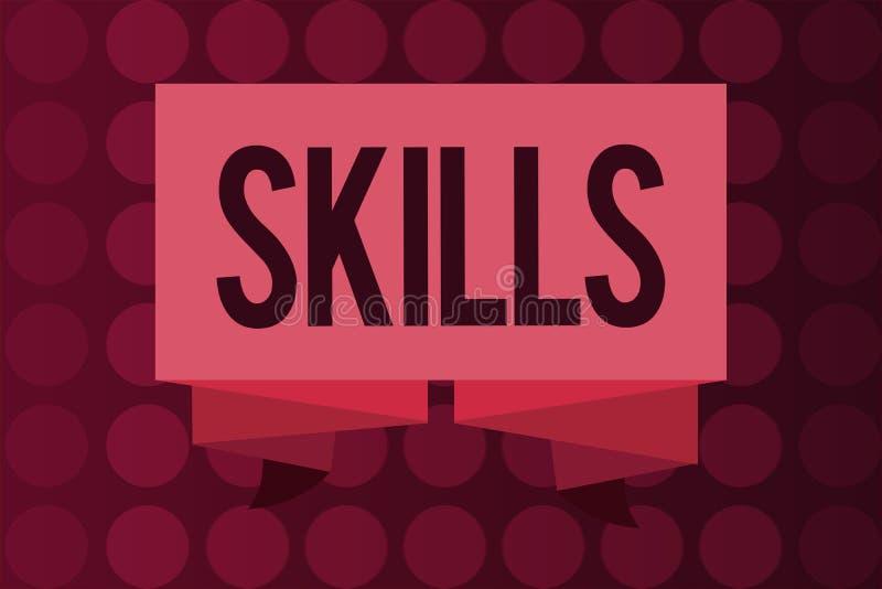 词文字文本技能 能力的企业概念能做事更好变在一些行动的好的专门技术 皇族释放例证