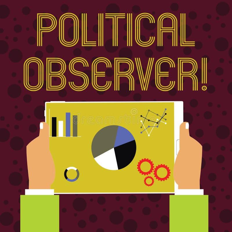 词文字文本政治观察家 通信展示的企业概念谁勘测政界 向量例证