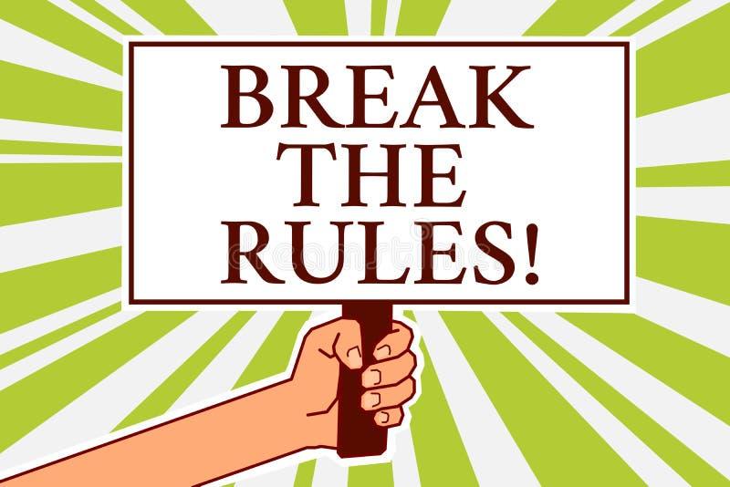 词文字文本断裂规则 Make变动的企业概念做一切另外叛乱改革布告牌标志 库存例证