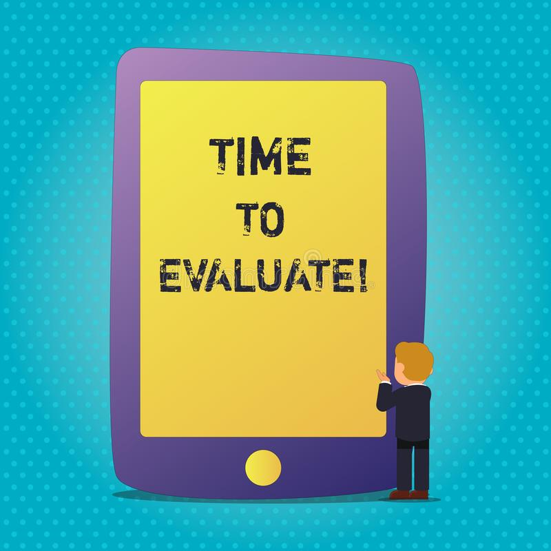 词文字文本时间评估 确定的企业概念设置值数额估价法官或确定 皇族释放例证