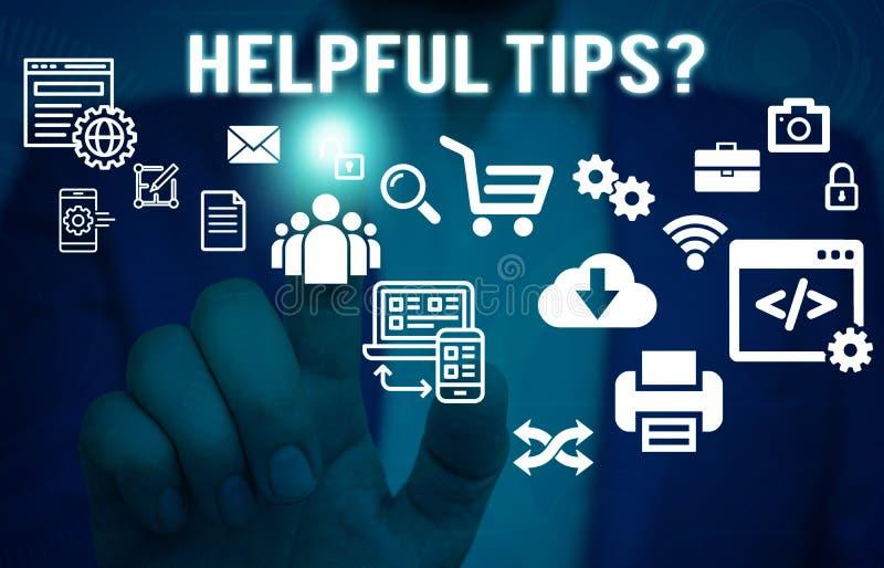 词文字文本有用的技巧问题 企业概念对于秘密信息或建议提是有用的知识 免版税图库摄影