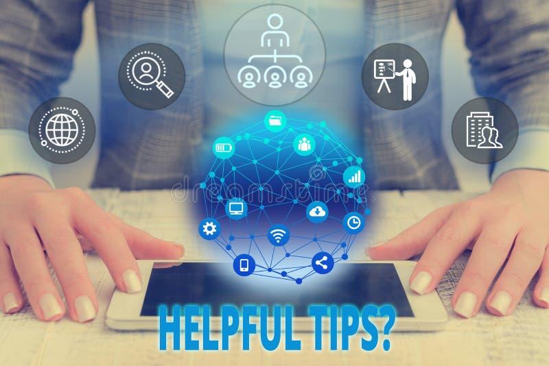 词文字文本有用的技巧问题 企业概念对于秘密信息或建议提是有用的知识 免版税库存照片
