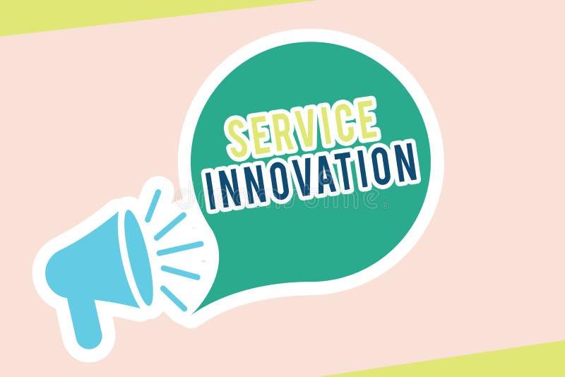 词文字文本服务创新 改善的产品系列的服务企业概念介绍即将来临的趋向 库存例证