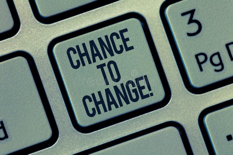 词文字文本机会改变 机会的企业概念变革新的企业想法的 向量例证