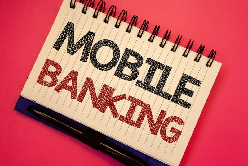 词文字文本流动银行业务 网上现款支付和交易真正银行的企业概念发短信给两词笔记wr 库存图片