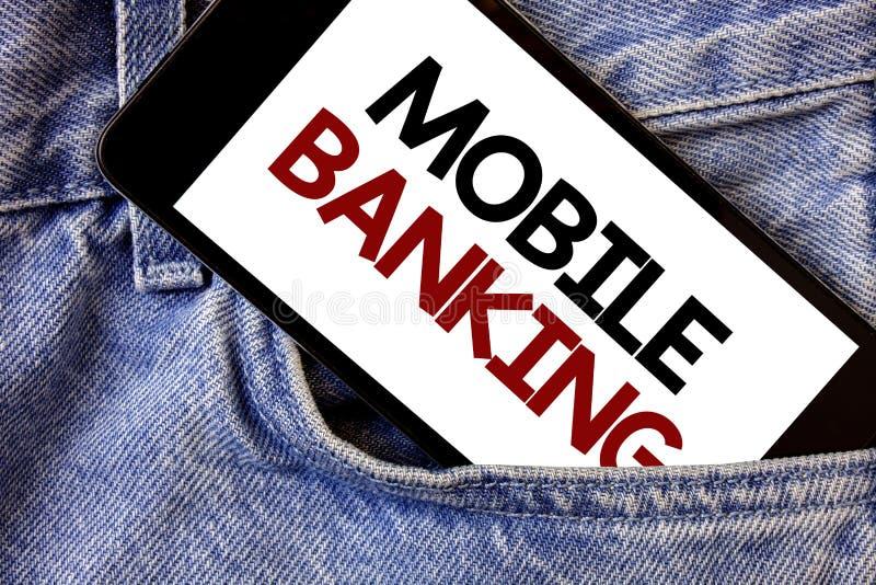 词文字文本流动银行业务 网上现款支付和交易真正银行的企业概念发短信给书面的两个词 免版税库存照片