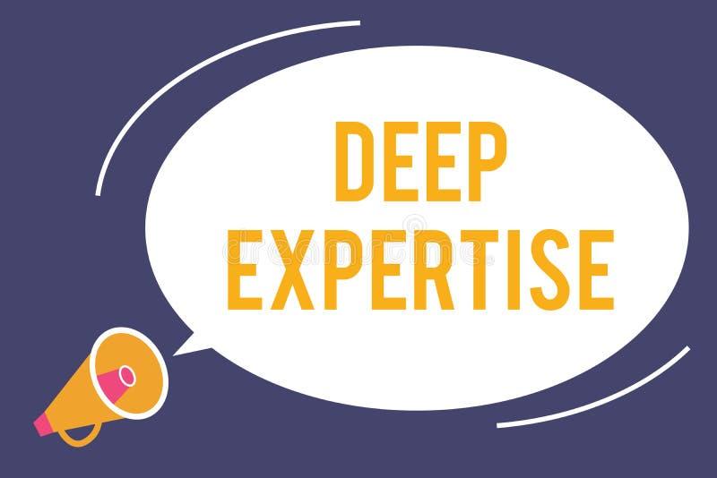 词文字文本深刻的专门技术 巨大技巧或宽广的知识的企业概念在一个特殊领域或爱好 库存例证