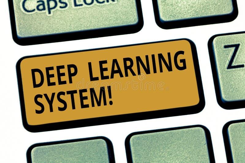 词文字文本深刻的学习系统 用于机器学习键盘的算法的汇集的企业概念 向量例证