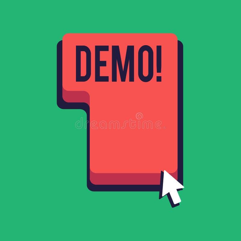 词文字文本演示 某事的试验Beta版免费考试样品预览的企业概念原型 皇族释放例证