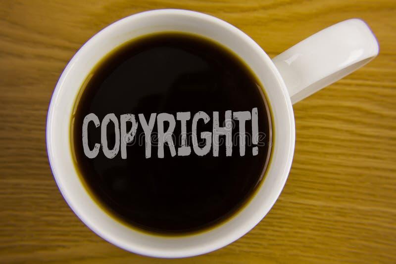 词文字文本版权诱导电话 对的在红茶写的知识产权海盗行为说不企业概念 库存图片